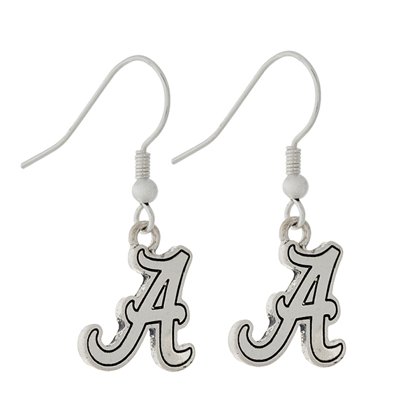 Wholesale silver official licensed University Alabama earrings Charm Overall