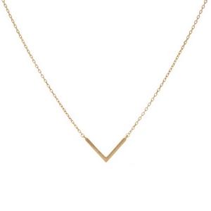"Dainty V Necklace.  - Approximately 16"" Long - 2"" Adjustable Extender"