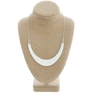 """Modern metal bib statement necklace.  - Approximately 18"""" in length withy 3"""" extender"""
