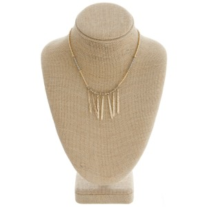 """Seed beaded metal tassel boho necklace.   - Approximately 16"""" in length with 3"""" extender"""