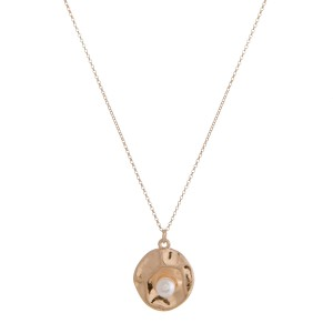 """Pearl nested pendant necklace.  - Pendant approximately .75"""" in diameter - Approximately 16"""" in length overall with 3"""" extender"""
