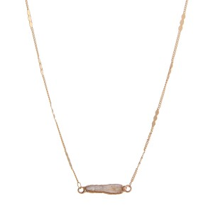 """Faux pearl bar necklace.  - Approximately 16"""" in length with 3"""" extender"""