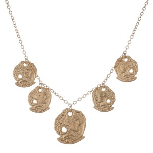 """Greek coin bohemian necklace.  - Approximately 16"""" in length with 3"""" extender"""