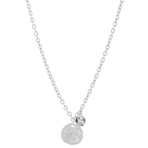 """Textured Coin Necklace.  - Pendant approximately .75""""  - Approximately 20"""" L  - 3"""" Adjustable  Extender"""