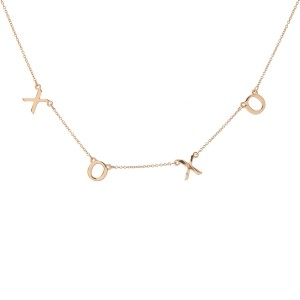 """""""Xoxo"""" Floater Necklace in Gold.  - Approximately 16"""" L  - Adjustable 3.5"""" Extender"""