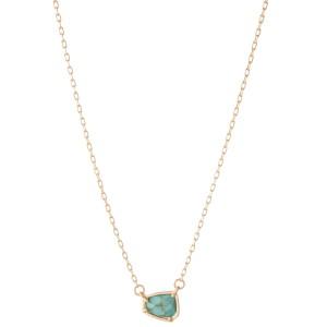 "Short Semi Precious Stone Necklace.  - Approximately 16"" L  - Adjustable 3.5"" Extender"
