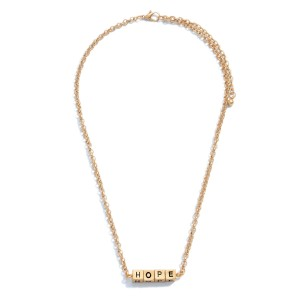 """Hope Block Letter Necklace.  - Approximately 16"""" in Length - 3"""" Adjustable Extender"""