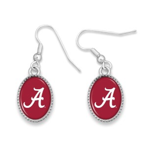 """Officially licensed, silver tone fishhook earring collegiate logo. Approximately 3/4"""" in length."""