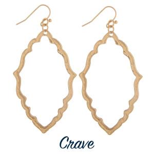 "Moroccan design drop earrings. Approximately 2"" long."