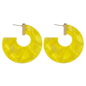 """Long thick acetate earrings. Approximate 1.5"""" in length."""