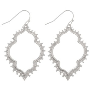 """Tailored moroccan drop earrings.  - Approximately 2"""" L"""