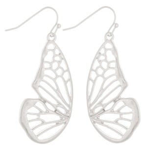 "Metal cut out butterfly earrings.  - Approximately 2"" L"