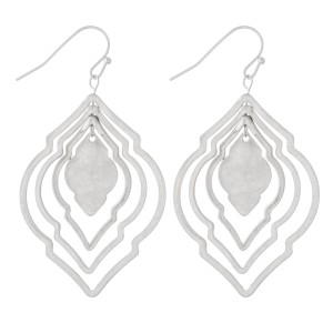 """Metal Tone Layered Moroccan Earrings.  - Approximately 2"""" L"""