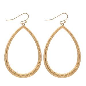 """Textured Metal Teardrop Earrings.  - Approximately 2"""" L"""