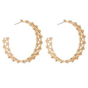 """Zig Zag Metal Hoop Earrings.  - Approximately 2"""" in diameter"""
