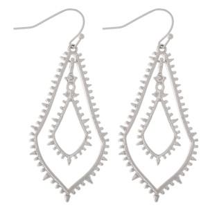 """Metal Fringe Nested Teardrop Dangle Earrings.  - Approximately 2"""" L"""