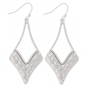 """Foundry Hammered Drop Earrings.  - Approximately 2"""" L"""