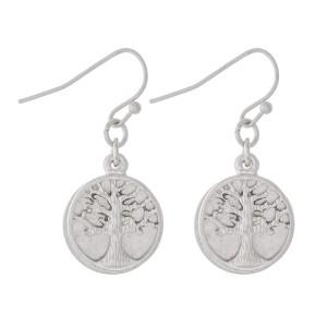 "Short Tree of Life Dangle Earrings.  - Approximately 1"" L"