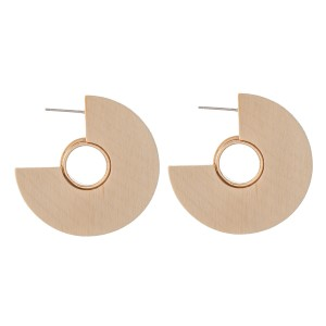 "Full Wooden Hoop Earrings Featuring Gold Accent.  - Approximately 1.5"" in Diameter"