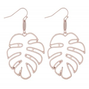 """Palm Leaf Cut Out Drop Earrings.  - Approximately 2"""" L"""