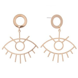 "Abstract Eye Drop Earrings.   - Approximately 2"" L"