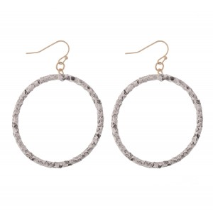 """Faux Leather Snakeskin Wrapped Drop Earrings.  - Approximately 2.5"""" L  - Approximately 2"""" in Diameter"""