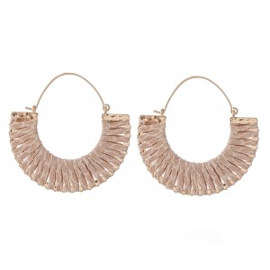 """Faux Leather Animal Print Wrapped Hoop Earrings.  - Approximately 2"""" in Diameter"""