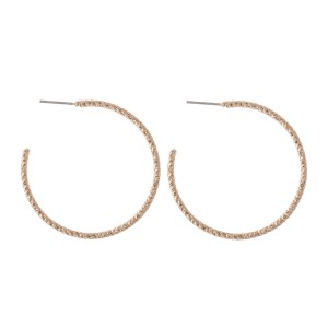 "Diamond Cut Textured Hoop Earrings.  - Approximately 1.75"" in Diameter"
