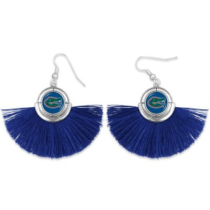 """Florida Gator Game Day Tassel Drop Earrings.  - Approximately 2"""" L x 3"""" W"""