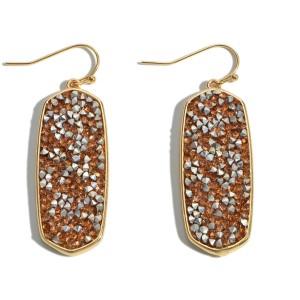"""Rhinestone Glitter Drop Earrings.  - Approximately 2"""" in Length"""