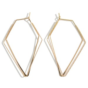 "Metal Geometric Threader Earrings.   - Approximately 2"" in Length"