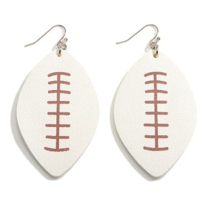 """Faux Leather Football Earrings.   - Approximately 3"""" Long"""