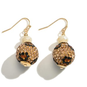 """Leopard Print Earrings Featuring Beaded Accents.   - Approximately 1.5"""" Long"""