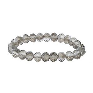 Black diamond beaded stretch bracelet.