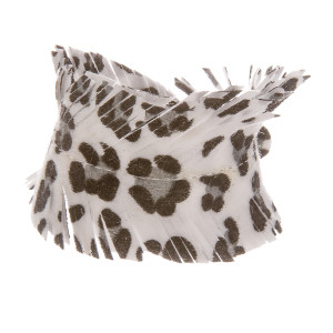 "Faux leather animal print bracelet with button snap. Approximate 8"" in length."