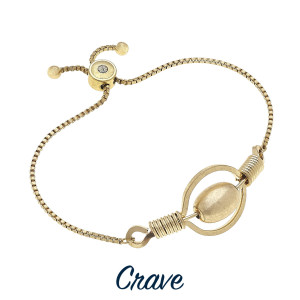 """Enjoy this gorgeous bracelet with adjustable tie with metal and bead detail. Approximate 8"""" in length."""