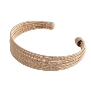 Metal cuff bracelet. Approximate 3' in diameter.