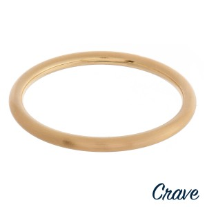 """Matte metal bangle bracelet.  - Approximately 3"""" in diameter - Fits up to a 6"""" wrist"""