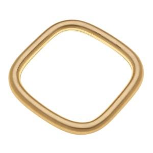 "Satin Gold square bangle bracelet.  - Approximately 3""   - Fits up to a 6"" wrist"