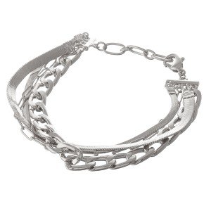 "Curb link herringbone chain link bracelet.  - Lobster clasp  - Adjustable 1"" extender - Approximately 3"" in diameter - Fits up to an 8"" extender"