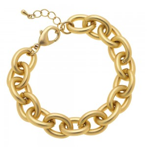 """Chunky Chain Link Bracelet in Matte Gold.  - Approximately 3"""" in diameter - 1"""" Adjustable Extender - Fits up to an 8"""" wrist"""