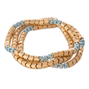 "Snake Beaded Stretch Bracelet Set.  - 3pcs/set - Approximately 3"" in diameter - Fits up to a 7"" wrist"
