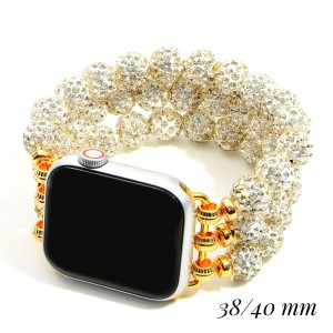 """Interchangeable Beaded Smart Watch Bracelet for Smart Watches Only.  - Fits 38 - 40 mm Watch Face - Approximately 3"""" in Diameter"""