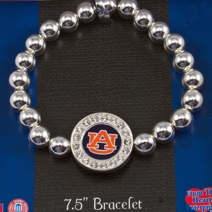 Officially licensed Auburn bracelet.