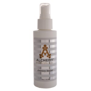 4 oz. Alchemy Jewelry Sealer Spray.   - Protects jewelry from tarnishing - Designed to keep jewelry from turning your skin green or from irritating your skin - Alchemy is a great jewelry coating for allergies, and sensitive skin jewelry - Anti tarnish nickel guard - No need for earring protectors for sensitive ears - Spray jewelry with sealer before each wear