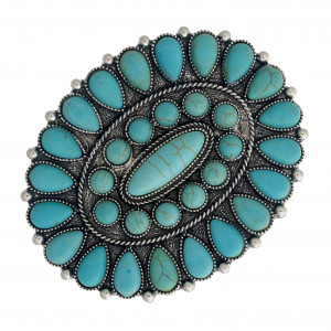 """Hair barrette featuring natural stone inspired details. Approximately 2.5"""" in length."""