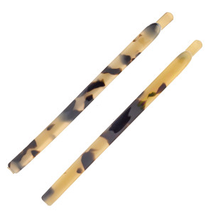 """Hair pin set featuring two resin hair pins. Approximately 3"""" in length."""