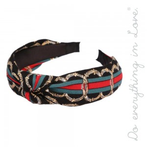 Do everything in Love brand knotted designer inspired headband.  - One size fits most adults - 100% Polyester