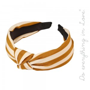 Do everything in Love brand knotted striped headband.  - One size fits most adults - 100% Polyester