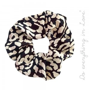 Do everything in Love brand leopard print scrunchie.  - One size  - 100% Polyester